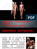 Anatomía Humana - Generalidades