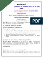 OM0016 Quality Management