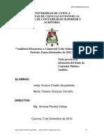 Auditoría Financiera a Comercial Ávila Ochoa CIA. LTDA