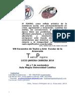 Bases y Ficha de Inscripcion Viii Encuentro de Teatro Pinguino