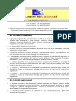 regolamento disciplinare medie revisione 2014-2