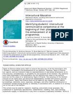 ARTÍCULO Fernando Beltrán, Taylor and Francis Online, Intercultural Education