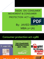 Consumer Protection Act1986