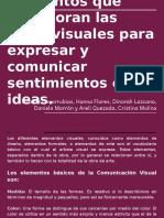 Elementos Que Incorporan Las Artes Visuales Para Expresar y Comunicar Sentimientos e Ideas