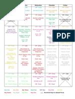 animal farm unit calendar