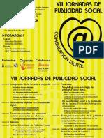 Programa VIII Jornadas de Publicidad Social