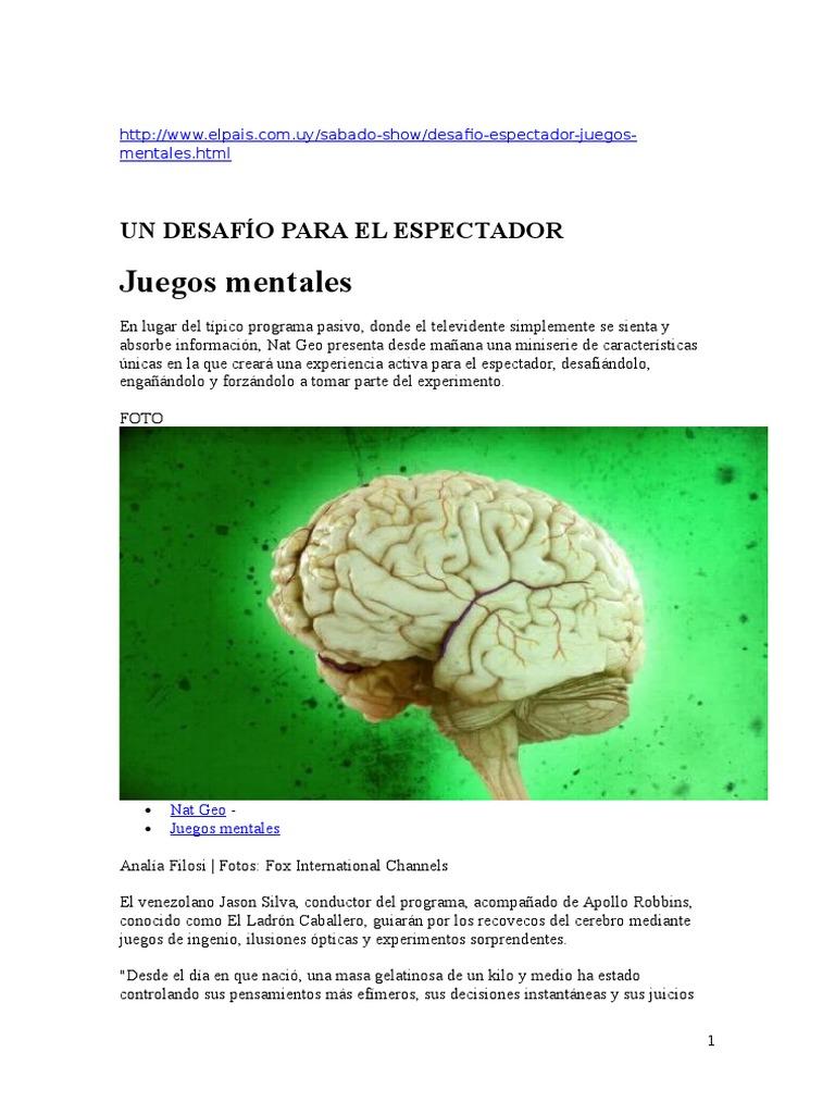 Quien Esta Detras De Brain Games De National Geographic
