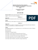 Acta y Documentos Escuela de Padres