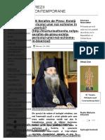 Chilia Buna Vestire _ IPS Serafim de Pireu_ Există Pericolul Unei Noi Schisme În Biserică