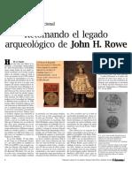 Retomando El Legado Arqueológico de John H. Rowe