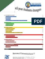 Guide d'Accueil Etudiants Etrangers