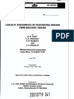 Casualty Assessments of Penetrating Wounds from Ballistic Trauma