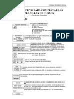 Instructivo Planillas FP