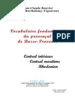 Vocabulaire Fondamental Du Provençal de Basse-Provence