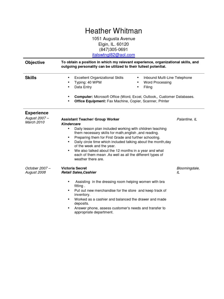 Jobswire com Resume of italswtngl82 | Retail | Inventory
