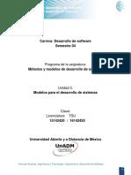 Modelos Para El Desarrollo de Sistemas