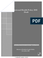 National Health Policy,2015 Draft