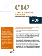 Point of View Financial Statement Disclosures