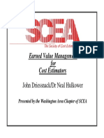 Earned Value for Cost Estimators