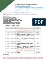 Programa Del Primer Taller de Catequesis Enero 2015.Docx2
