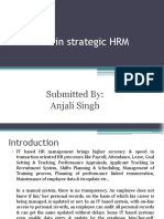 Role of IT in Strategic HRM