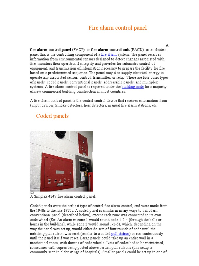 Fire Alarm Control Panel | Electrical Engineering | Systems
