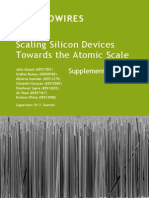 Silicon Nanowires Research Report Supplementary