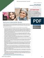 Best Practices in Adolescent Girls' Education