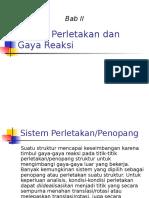 Bab II Sistem Perletakan Dan Gaya Reaksi