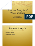 business analysis of water utilities