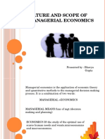 Nature and Scope of Managerial Economics BHAVYA