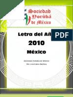 Letra 2010 Mexico