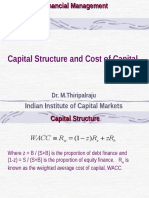 Capital Structure and Cost of Capital - 23&25-Nov-2011