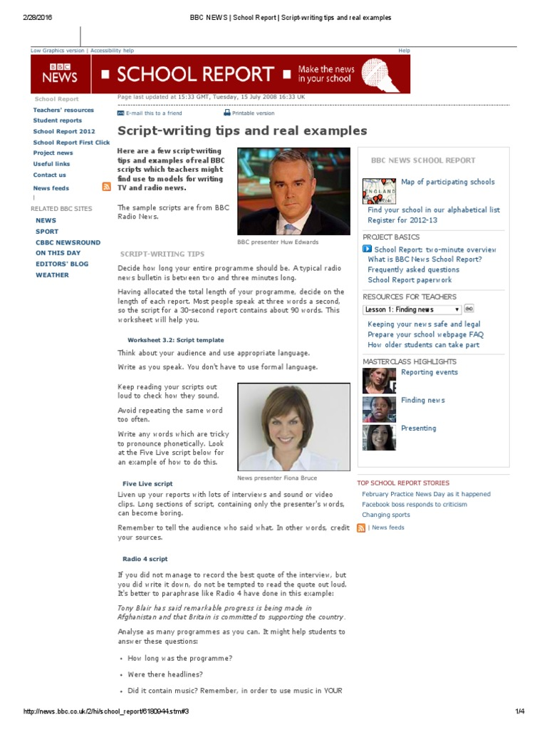 BBC NEWS _ School Report _ Script-writing Tips and Real Examples