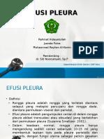 Efusi Pleura (Stase Paru)
