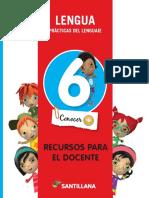 manual lengua 6.libro del docente.santillana