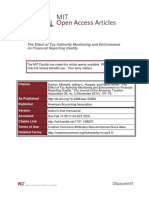 The Effect of Tax Authority Monitoring and Enforcement on Financial