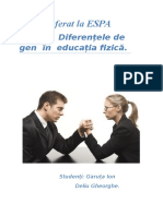 Diferentele de Gen in Educatia Fizica