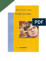 Estro Estéril. Alberto Escobar Ángel.