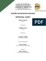 Reading Intervention Sample Proposal