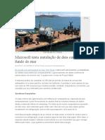Data Centers No Fundo Do Mar