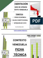 Hercon Febrero 2016 Contexto Venezuela