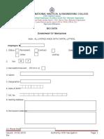 BIO DATA Employee Form