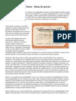 Análisis técnico Forex - listas de precio