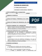 Programa Teor a Sociol Gica III 2015