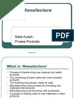 Pertemuan Ke-2 Sistem Manufaktur