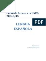 Apuntes Curso de Lengua Acceso Mayores 25 septiembre/febrero