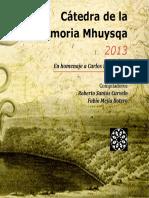 Memorias Cátedra Mhuysqa 2013