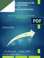 Desarrollo de Especificaciones en Agua Farmacéutica