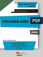 En Poche Français Vocabulaire 2016